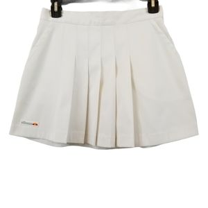 VTG Ellesse White Pleated Tennis Skirt